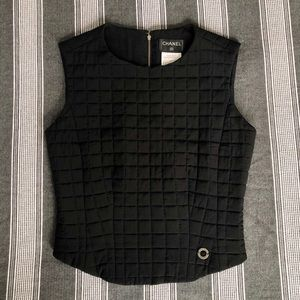 Chanel 2000's quilted tank top